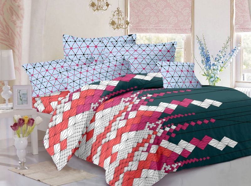 Buy Welhouse India Cotton King Size 1 Double Bedsheet With 2 Pillow Covers (tr_lv-006) online