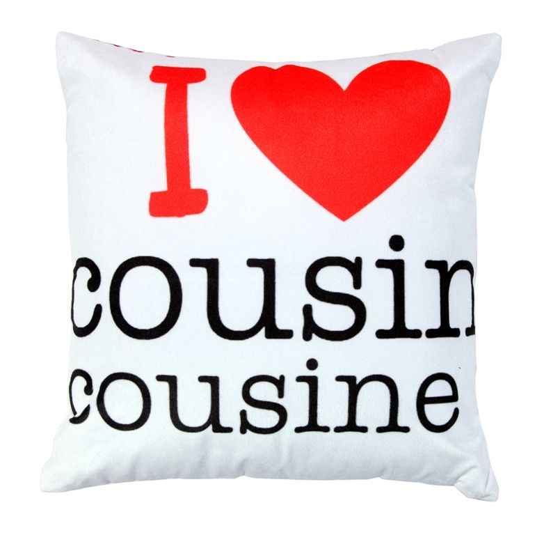 Buy Welhouse I love cousine printed cushion cover online