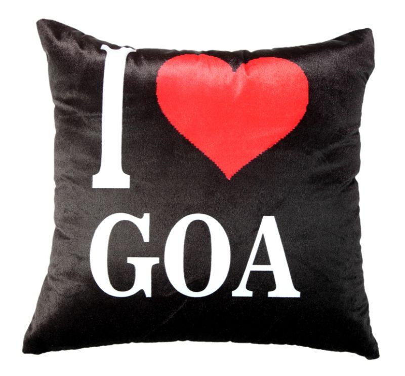 Buy Welhouse I Love Goa Printed Cushion Cover Vl_cu-050 online
