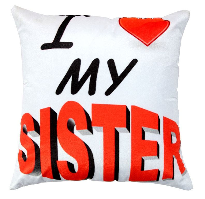 Buy Welhouse Sister Love Printed Cushion Cover Vl_cu-061 online