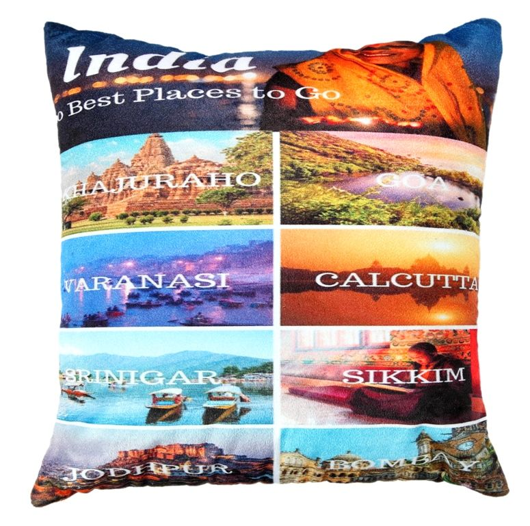 Buy Welhouse india famous places cushion cover online