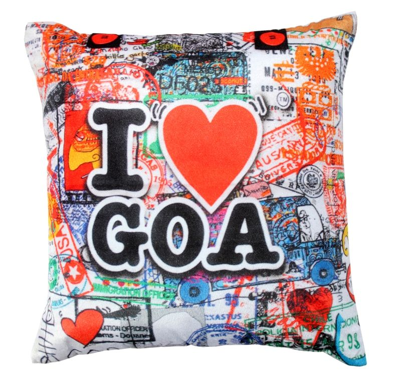Buy Welhouse goa lovers printed cushion cover online