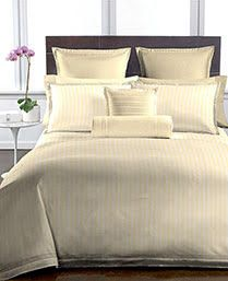 Buy Welhouse Beige Colour Stripes Design 1 Double Bedsheet With 2 Pillow Covers (250 Tc) online