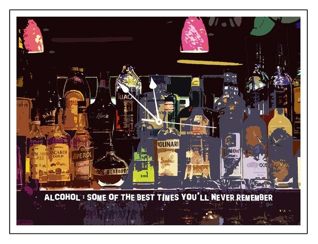 Buy 10 am Alcohol Clock- Acrylic online