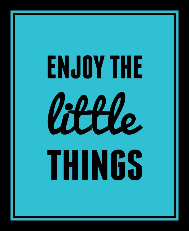 Buy 10 AM Enjoy The Little Things Framed Wall Art Without Glass online