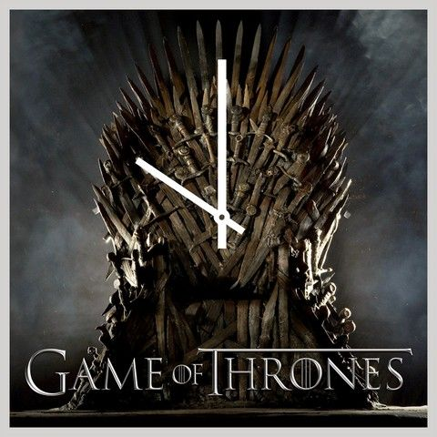 Buy 10 am Game of throne Clocks - Acrylic online