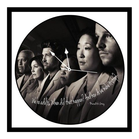 Buy 10 AM Greys Anatomy Clock- Acrylic ( Clga3 ) online