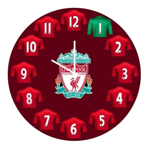 Buy 10 am Liverpool Jersey Clock- Acrylic online