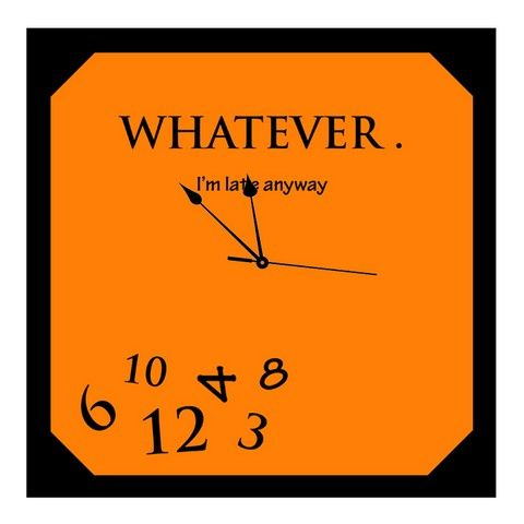 Buy 10 am Whatever Clock- Acrylic online