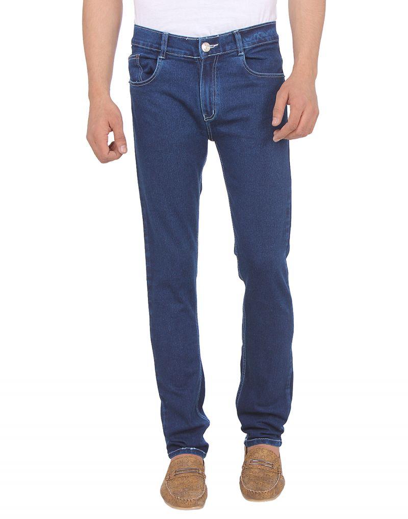 Buy Savon Mens 16106_03 Slim Fit Blue Stretch Denim Jeans For Men online