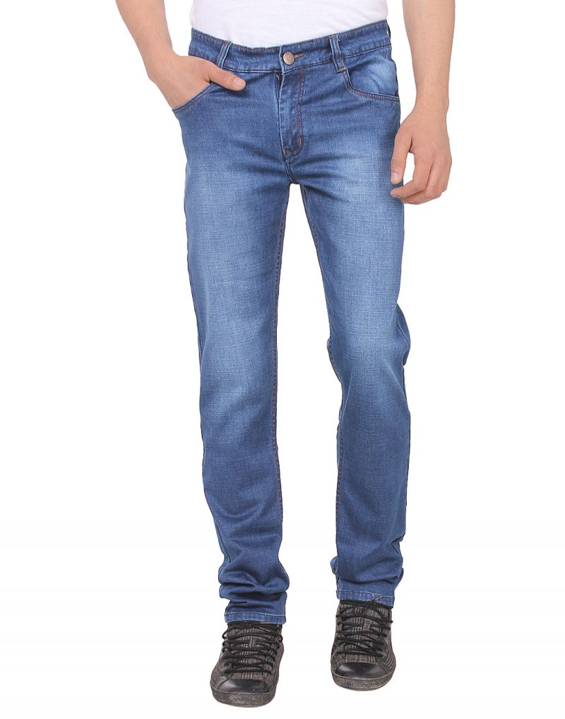Buy Savon Mens Ni11112_02 Slim Fit Blue Stretch Denim Jeans For Men online