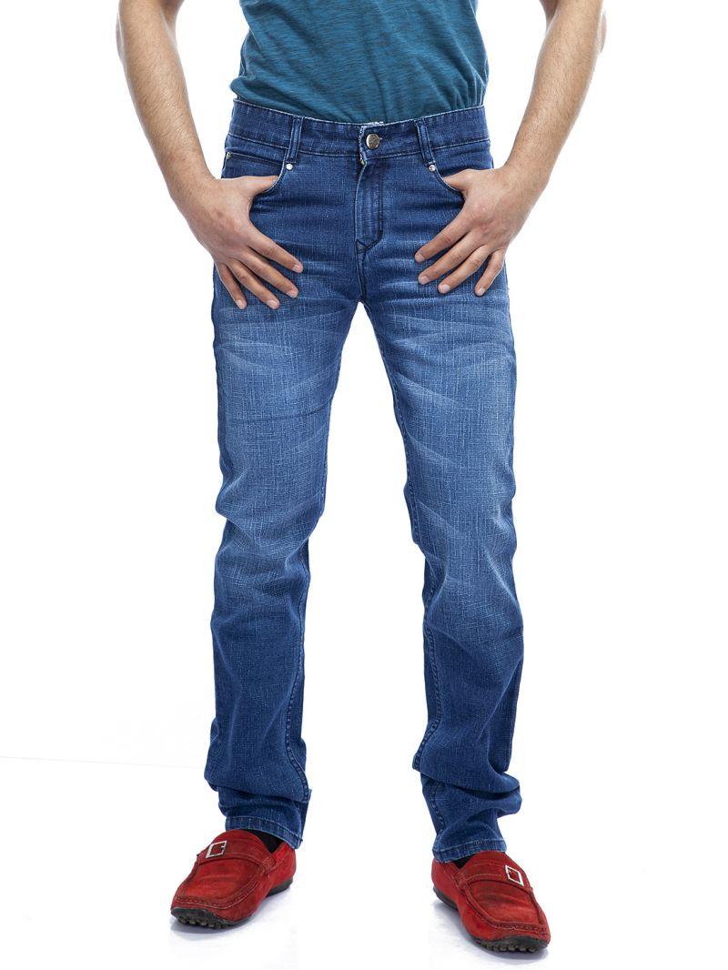 Buy Savon Mens Ni9032 Slim Fit Stretch Blue Denim Jeans For Men online