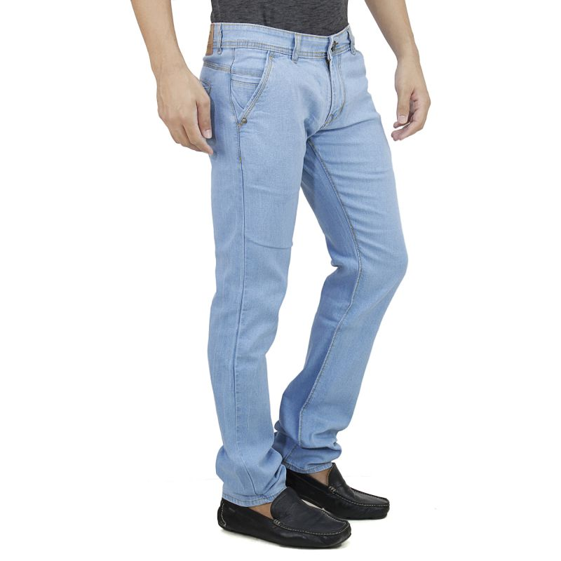 015e5ac6 Savon Mens Slim Fit Stretch Trouser Shape Blue Denim Jeans For Men Light  Comfortable Fabric