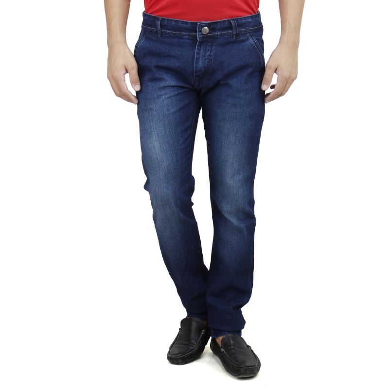 Buy Savon Mens Slim Fit Stretch Blue Denim Jeans For Men online