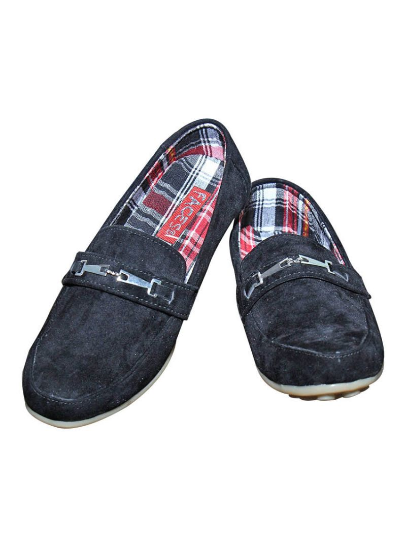 Buy Port Royal Black Suede Loafer online