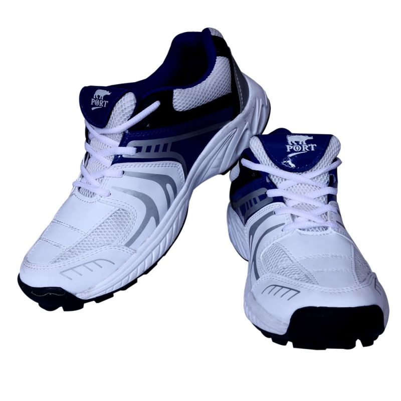 Buy Port Razzer White Cricket Sports Shoes online