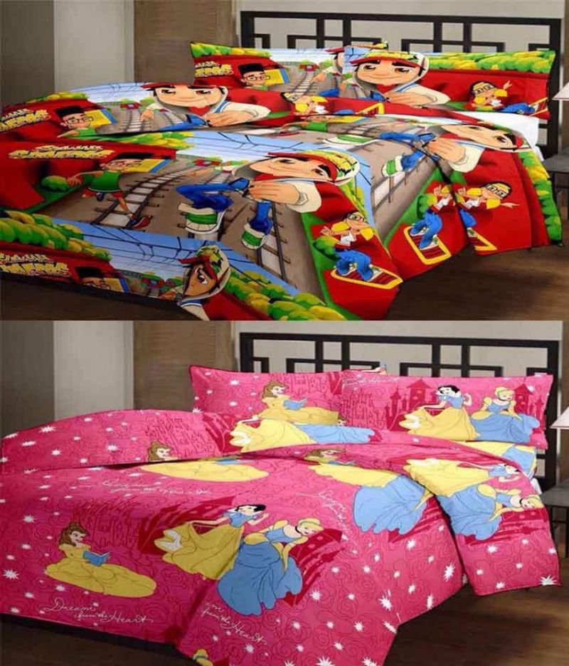 Buy Comforthome Polyester Printed Single Bedsheet (2pc Single Bed Sheet, 2pc Pillow Cover, Multicolor) online