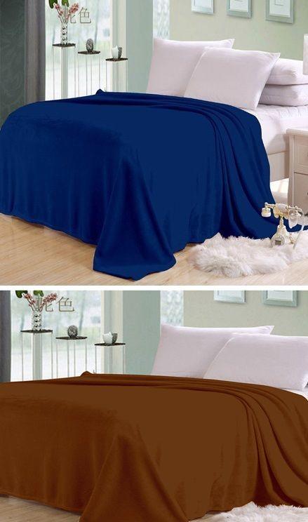 Buy Sai Arpan Plain Double Bed Ac Blanket Buy 1 Get 1 Free_blue-brown online