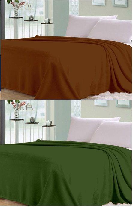 Buy Sai Arpan Plain Double Bed Ac Blanket Buy 1 Get 1 Free_brown-green online