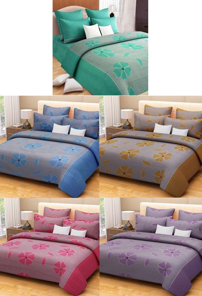 Buy Sai Arpan's Set Of 5 Premium Cotton Bed Sheets online