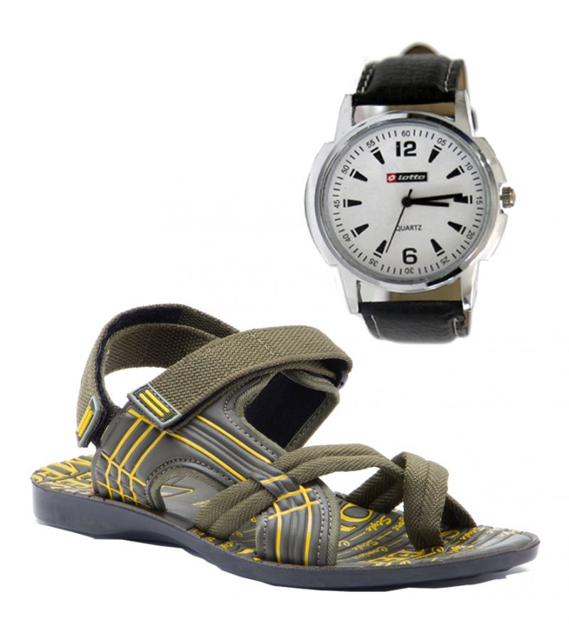 Buy Provogue Stylish & Attractive Clive Floater Sandals And Lotto Watch online