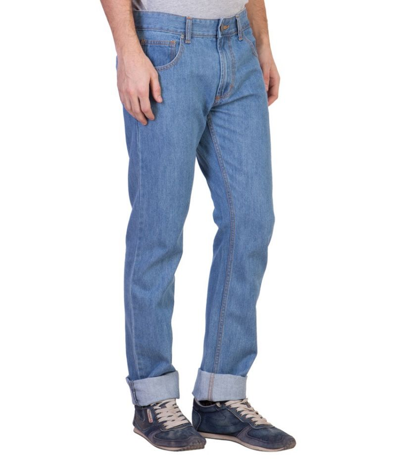 Buy Ruf & Tuf Stylish Party Casual Blue Denim Jeans online