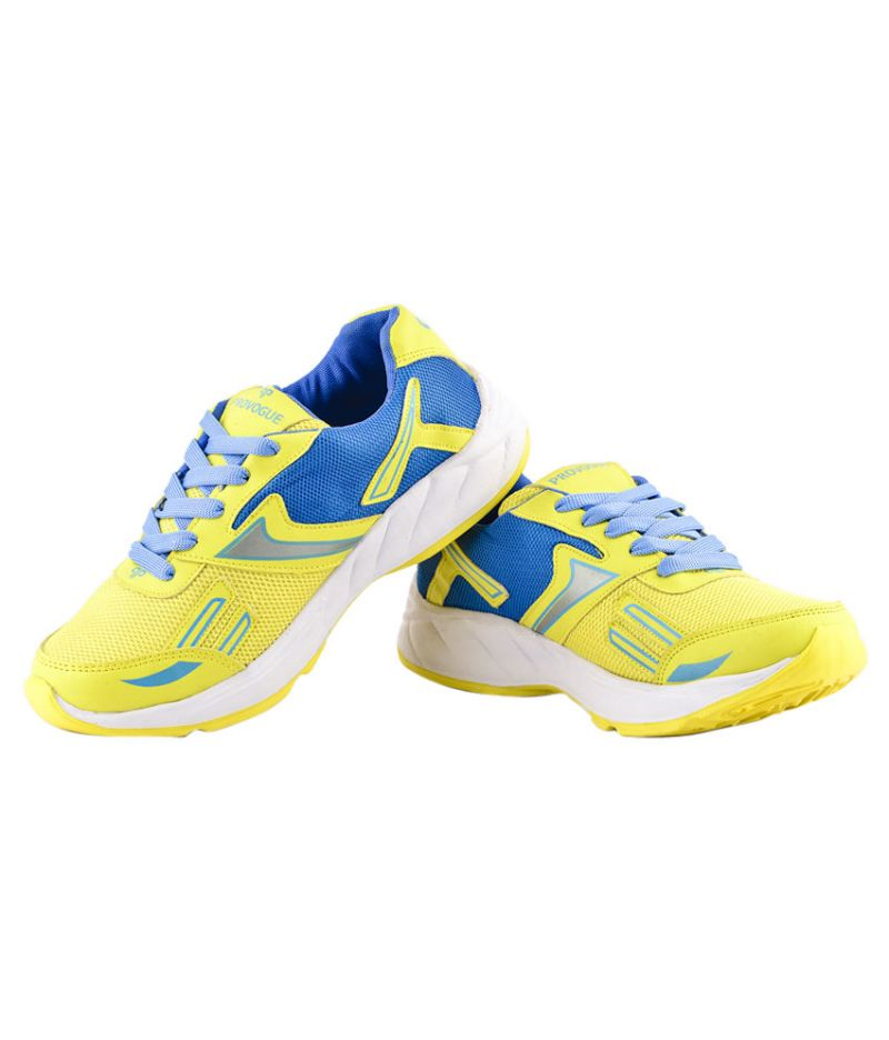 Buy Provogue 1094 Yellow And Sky Running Sports Shoes online