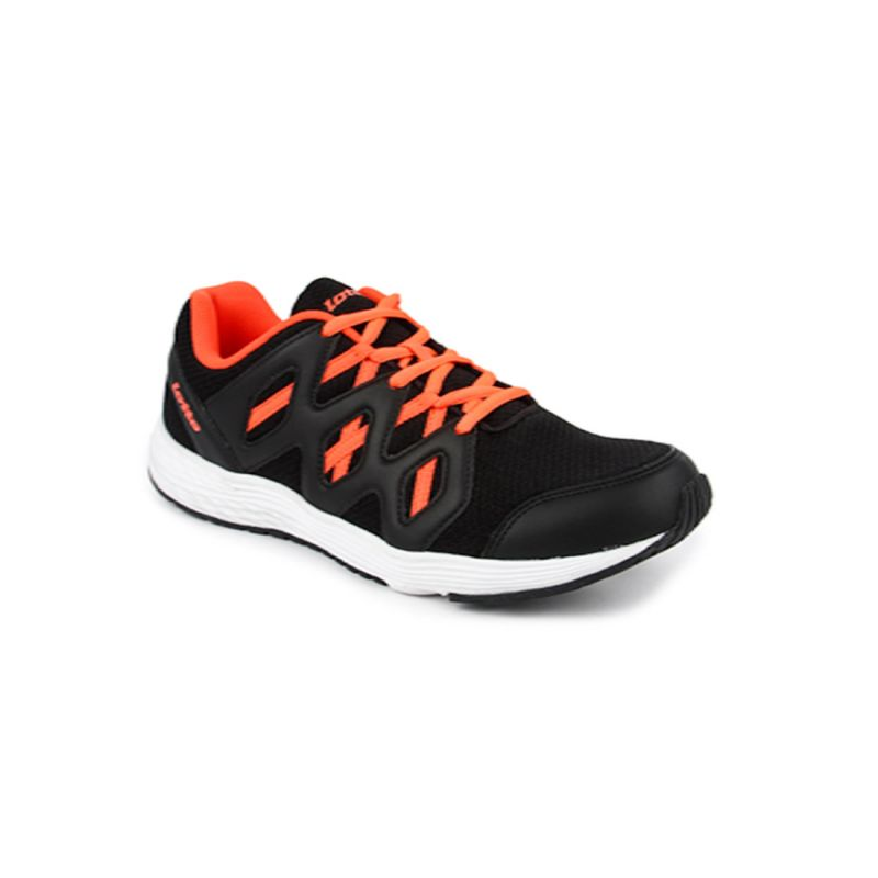 Buy Lotto Sleek Black & Coral Men Running Sport Shoes Ar4703-080 online