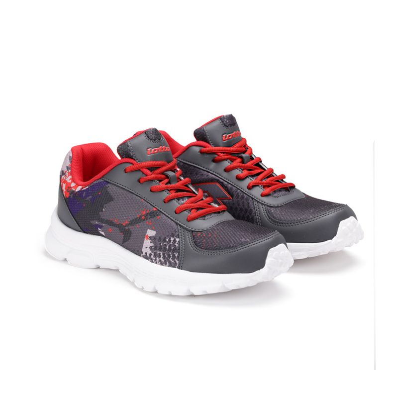 Buy Lotto Mens Portlane Subli Grey & Red Running Sport Shoes Ar4784-262 online