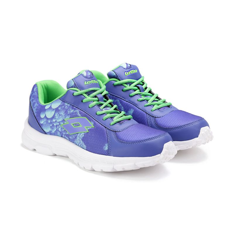 Buy Lotto Mens Portlane Subli Purple & Lime Running Sport Shoes Ar4784-575 online