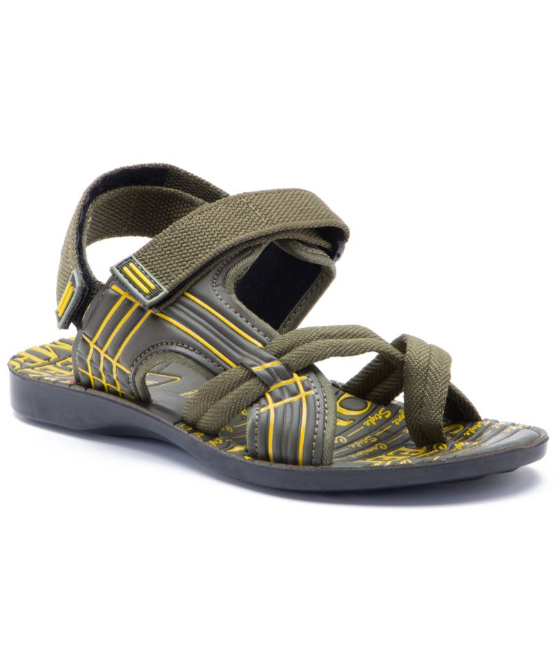 Buy Provogue Stylish & Attractive Olive Floater Sandals online