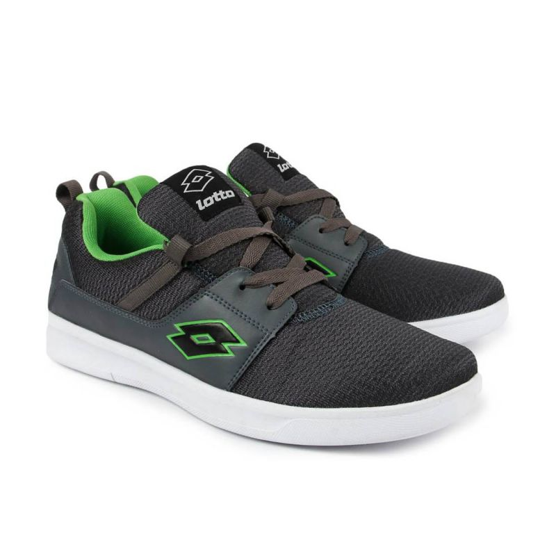 Buy Lotto Grey & Green String Mens Running Sport Shoes online