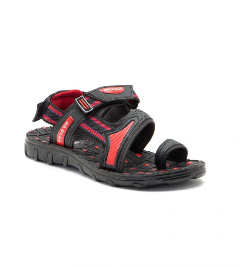 Buy Provogue Stylish & Attractive Red And Black Floater Sandals online