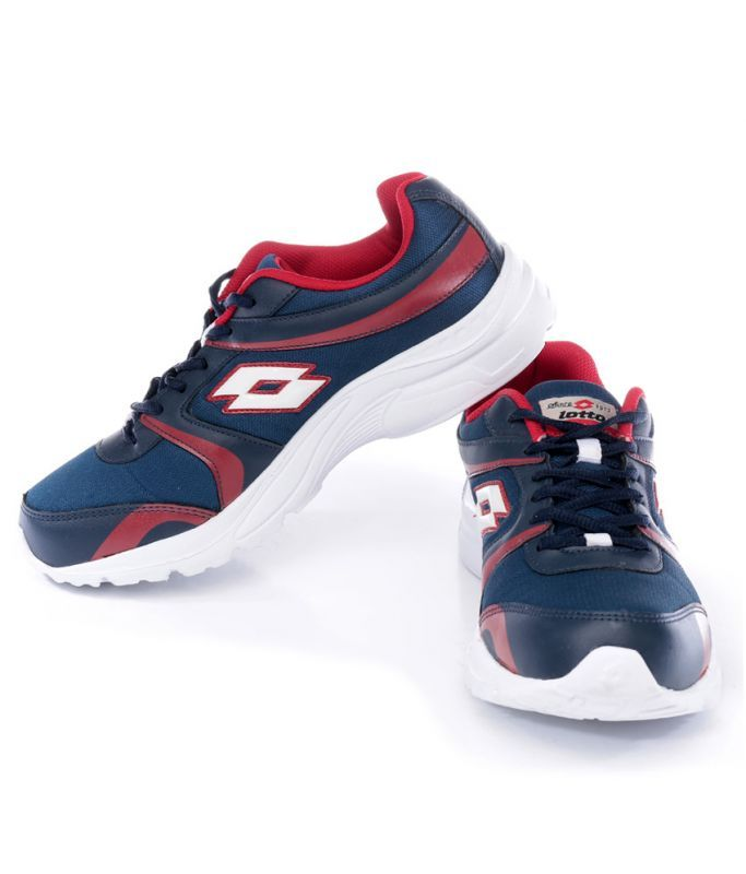 Buy Lotto Mens Pacer Navy & Red Running Shoes online