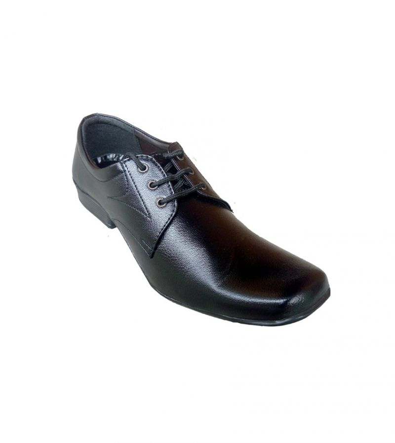 Buy Fast Fox Black Leather Formal Shoes online
