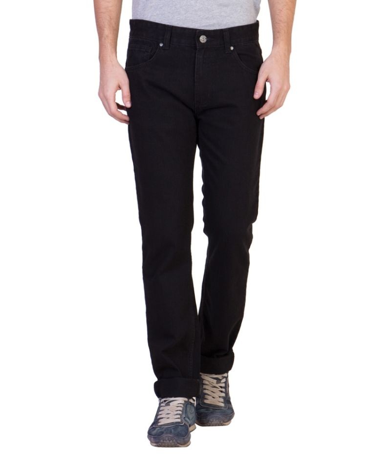 Buy Ruf & Tuf Stylish Party Casual Black Denim Jeans online