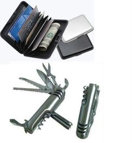 Buy Buy 1 Get 1 Free- Swiss Knife & Credit Card Security Alluma Wallet online