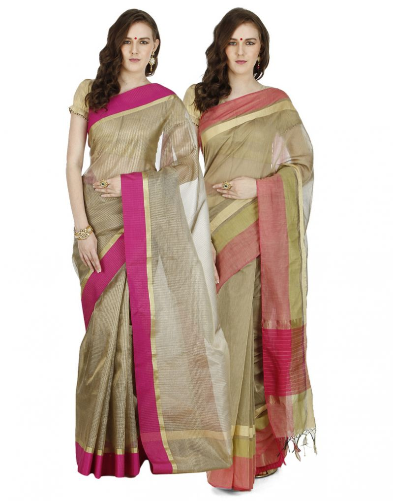 Buy Banarasi Silk Works Party Wear Designer Multi Colour Combo Saree For Women's(bsw1316_10) online