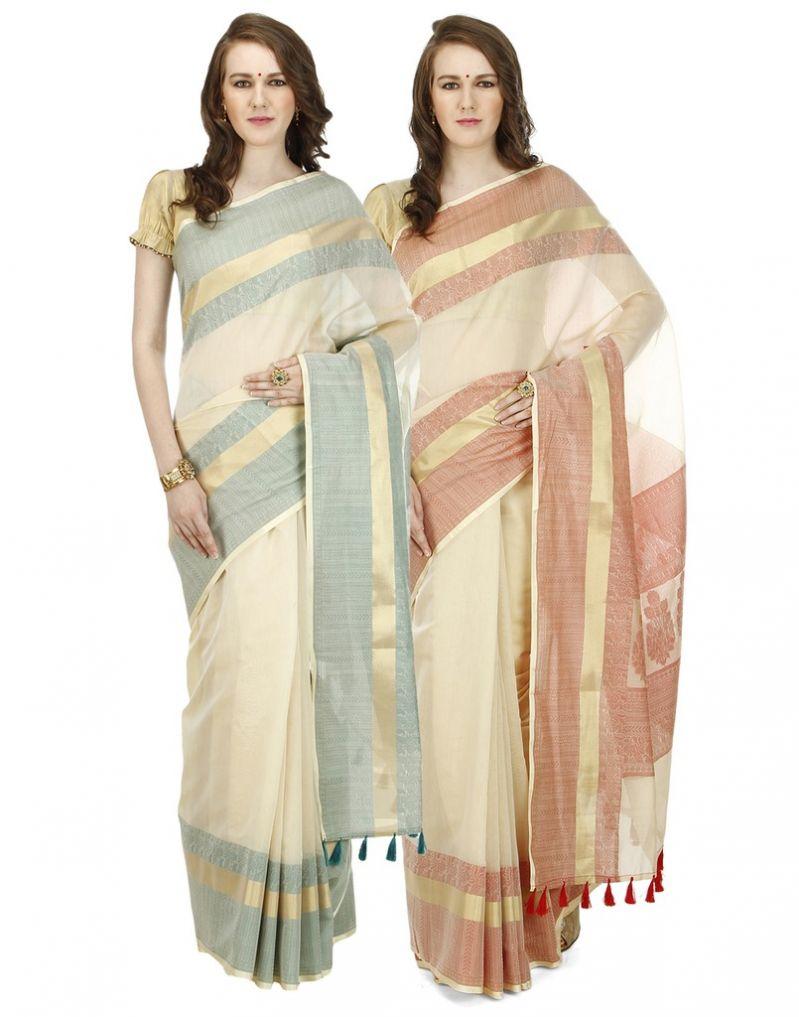 Buy Banarasi Silk Works Party Wear Designer Multi Colour Combo Saree For Women's(bsw1026_23) online