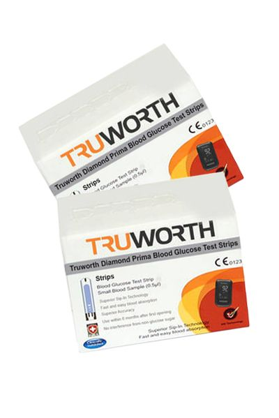 Buy Truworth Diamond Prima Black Test Strips Combo 100 online