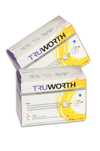 Buy Truworth G-30 Blue Test Strips Combo 100 online