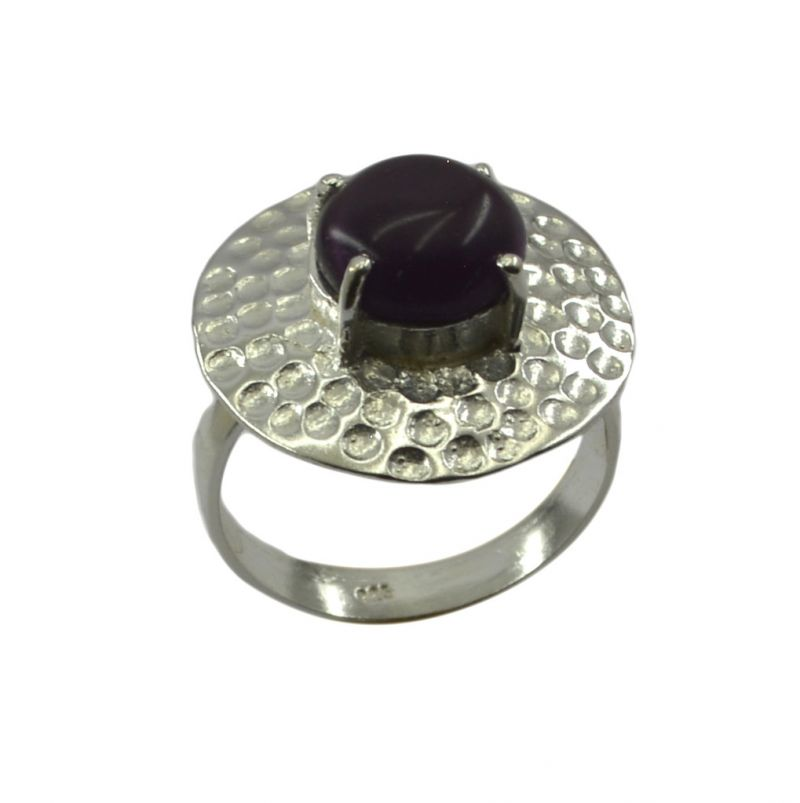 Buy Riyo Gemstone Alloy Silver Dainty Ring Aspr70-0009 online