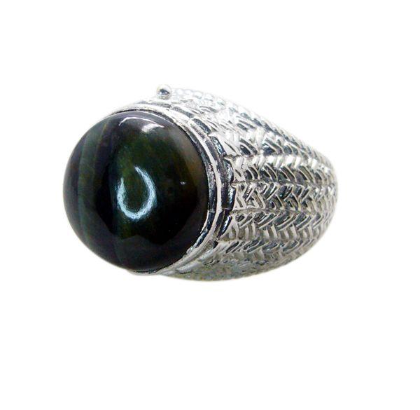 Buy Riyo Gemstone Alloy Silver Dependable Ring Aspr70-0057 online