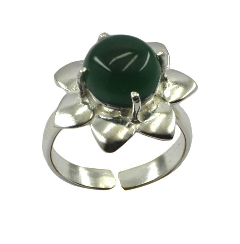 Buy Riyo Gemstone Alloy Silver Edgy Ring Aspr80-0001 online