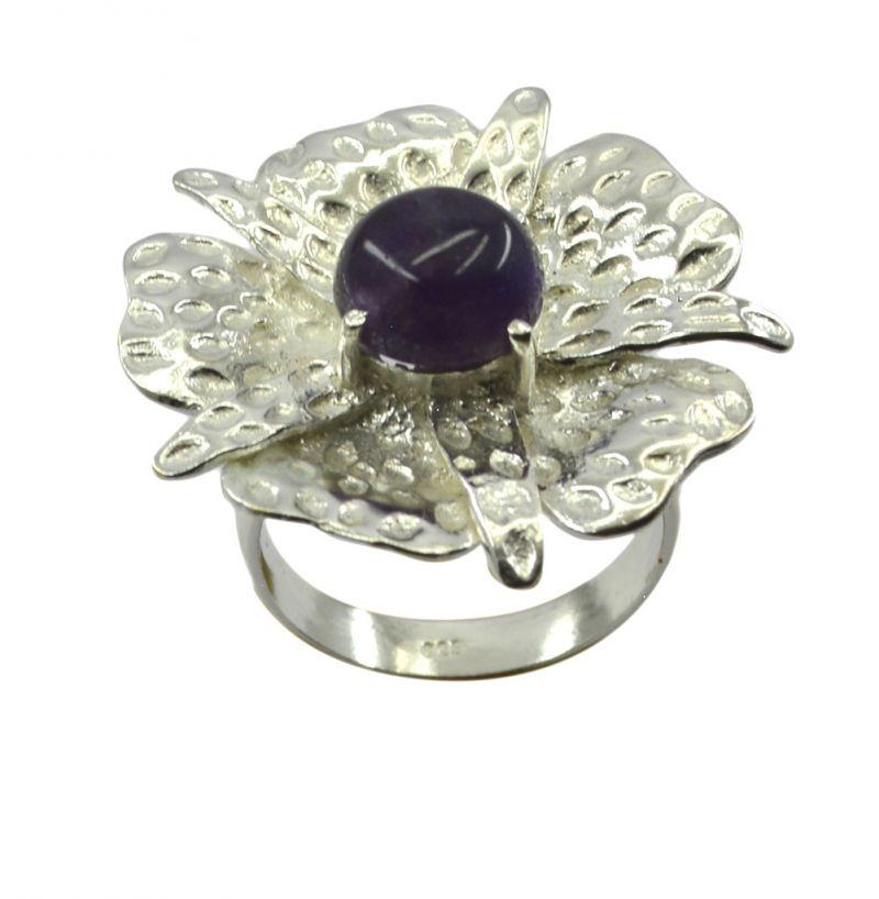 Buy Riyo Gemstone Alloy Silver Encased Ring Aspr80-0023 online