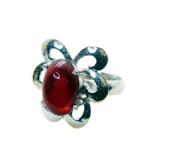 Buy Riyo Gemstone Alloy Silver Everyday Ring Aspr80-0040 online