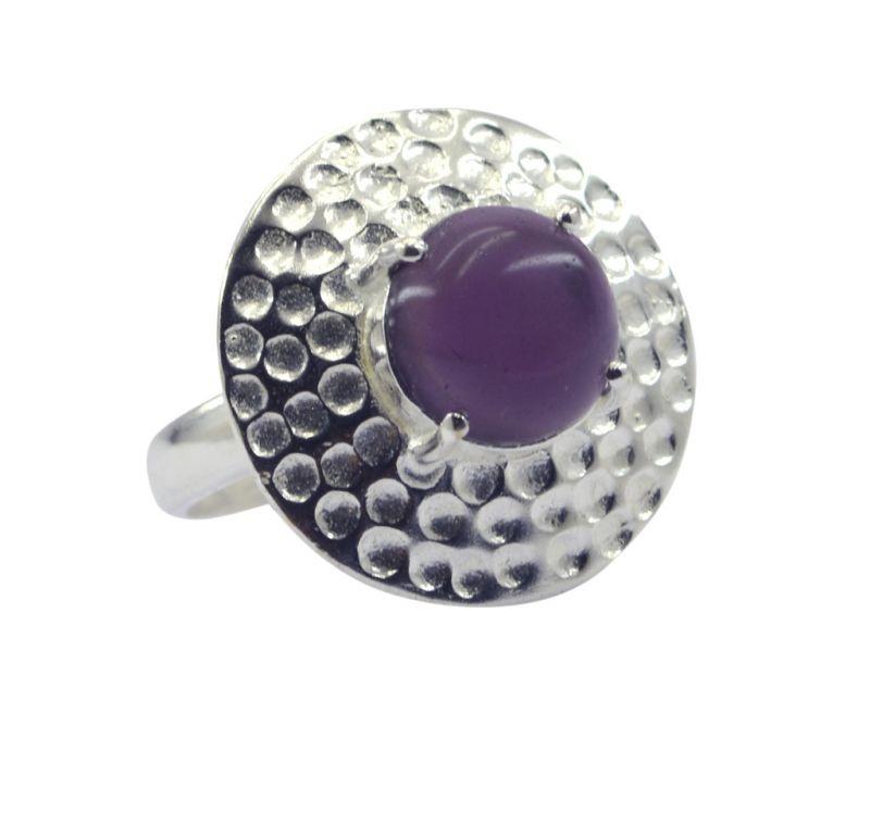 Buy Riyo Gemstone Alloy Silver Glittering Ring Aspr85-0025 online