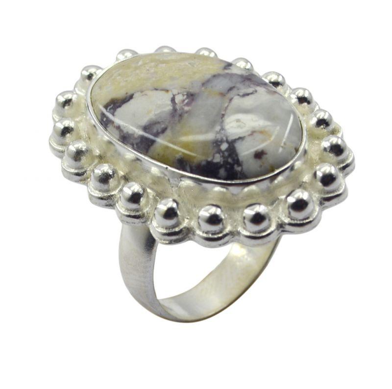 Buy Riyo Gemstone Alloy Silver Hand Finished Ring Aspr90-0007 online
