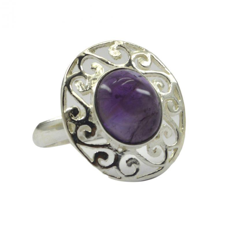 Buy Riyo Gemstone Alloy Silver Hand Wrapped Ring Aspr90-0034 online
