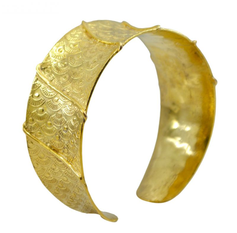 Buy Riyo A Plain 18kt Gold Plated Suspended Bangle W 1in (product Code - Gppban-120037) online